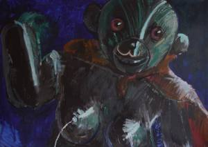 """Lactator The Great"" 130x100 oil on canvas (2008)"