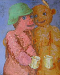 """Pole Deutsch – Zwei Schwegern"" 100x130 oil on canvas (2006)"
